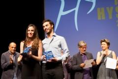 Maria Laila Fernandez e Livio Santiago Remuzzi Premio Hystrio alla Vocazione 2014 foto di Marina Siciliano