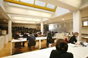 Centro Studi del Teatro Stabile di Torino: sala di lettura.