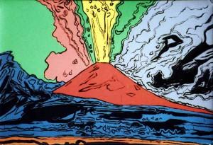 """I teatri a Napoli (""""Vesuvius"""" di Andy Warhol)."""