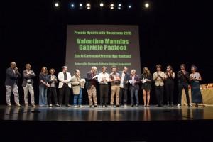 I vincitori e i segnalati del Premio Hystrio alla Vocazione 2015, con la giuria (foto: Marina Siciliano).