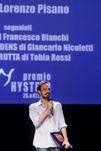 Pier Lorenzo Pisano durante la premiazione (foto: Marina Siciliano).