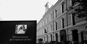 L'ingresso della Direzione generale dello Spettacolo dal Vivo a Roma.