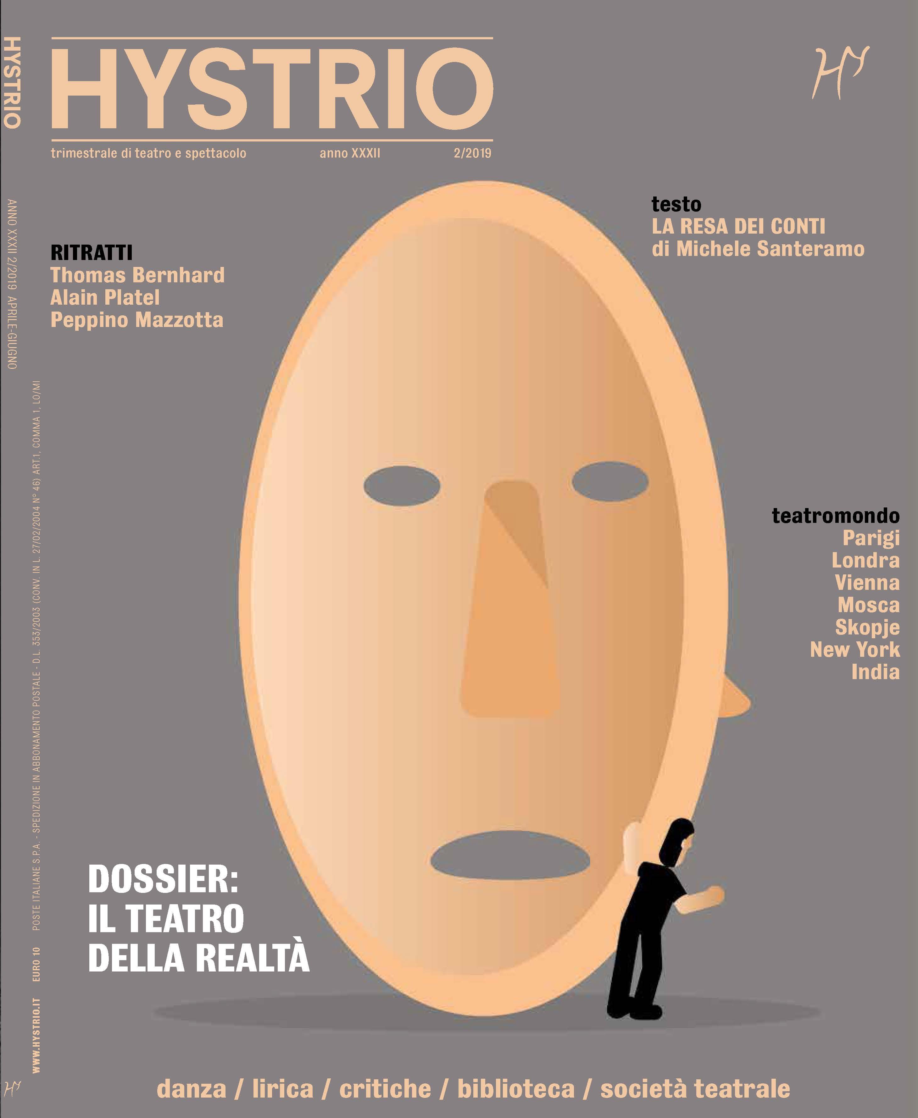 Copertina Hystrio n. 2.2019 (ill. Massimo Dezzani)
