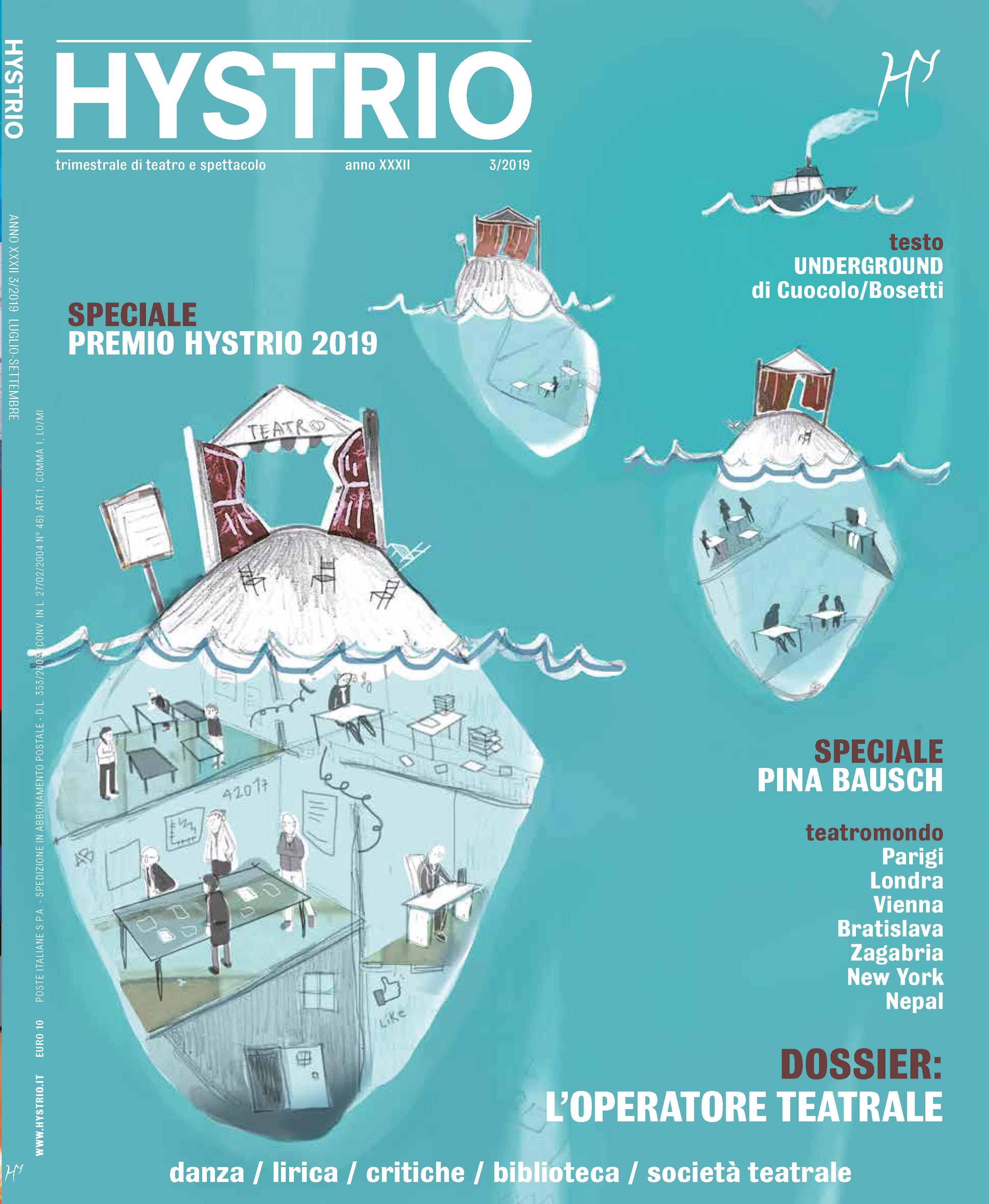 Hystrio 3.2019 cover