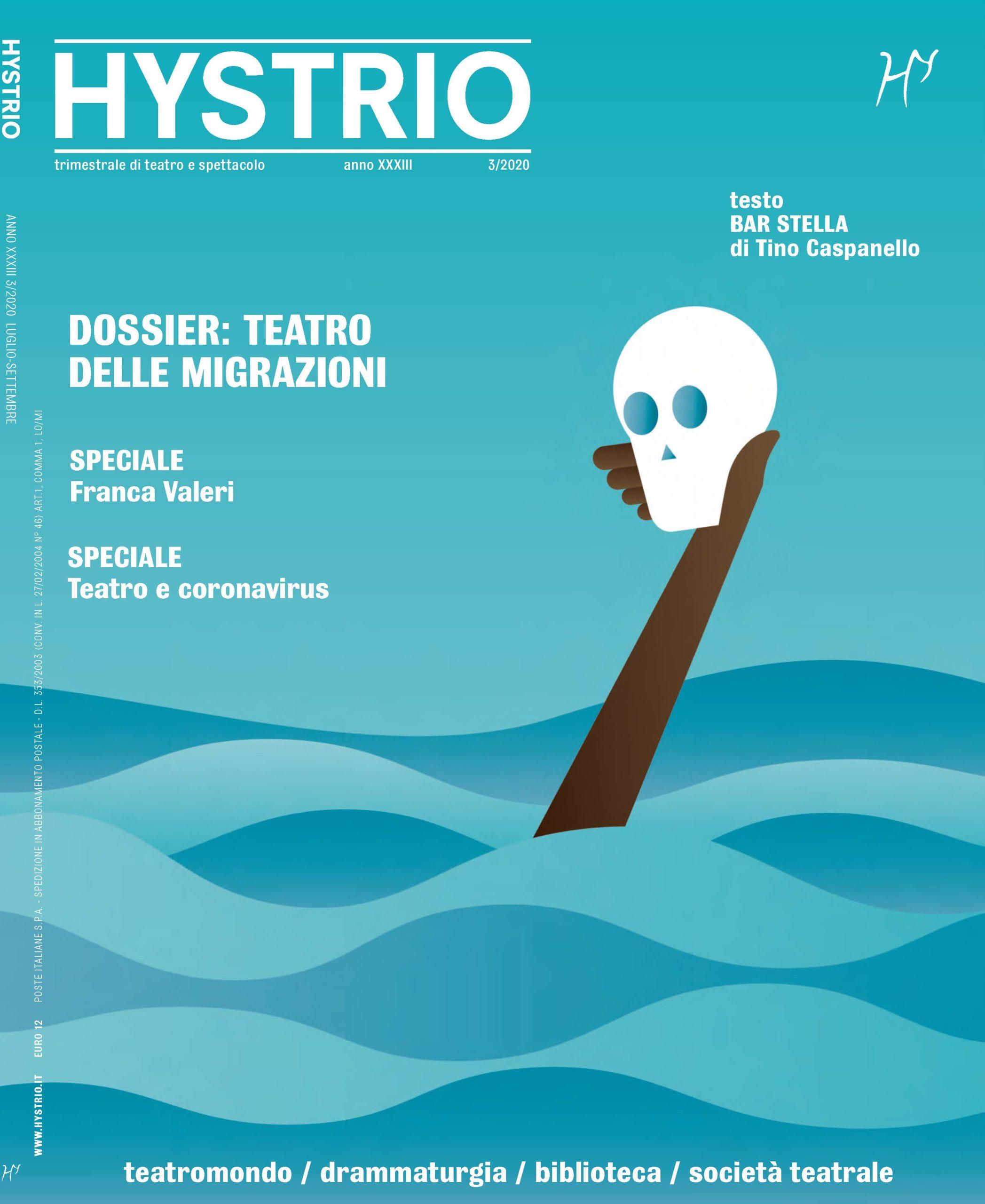 Hystrio 3.2020 copertina di Massimo Dezzani